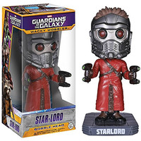 Star-Lord Bobble Head Figure: Guardians of the Galaxy x Wacky Wobblers Series + 1 FREE Official Marvel Trading Card Bundle [39615]
