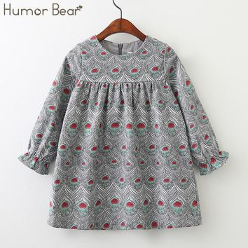 Humor Bear 2018 Children Clothes Girls Spring and Autumn Dress European and American Style Kids Dress Princess Dresses