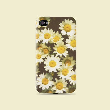 Little cute Daisy Flower Plastic Hard Case - iphone 5 - iphone 4 - iphone 4s - Samsung S3 - Samsung S4 - Samsung Note 2