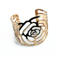 """Golden Rose"" Gold Cuff Bracelet"