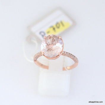 CERTIFIED 3.5 ct Champagne peach sapphire in a 100 diamonds micro pave fine quality setting, engagement ring 1852P