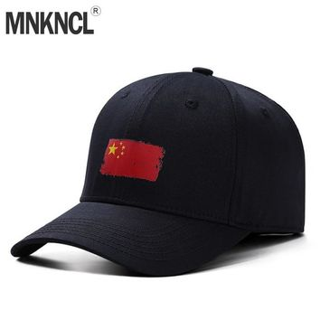 Trendy Winter Jacket MNKNCL High Quality Unisex 100% Cotton Casual Baseball Cap Chinese Flag Printing Snapback Fashion Sports Hats For Men Women Caps AT_92_12