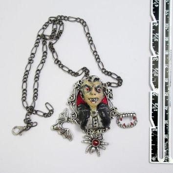 Vampire jewelry dracula necklace lolita gothic victorian - deathrock psychobilly goth choker horror jewelry - vampire wedding gothic jewelry