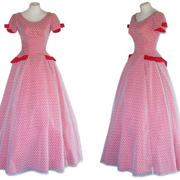 1950s Dress Vintage 1960s Red Prom Gown S   Free Domestic and Discounted International Shipping
