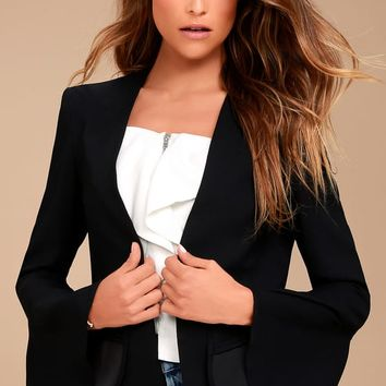 Night Visions Black Cropped Blazer