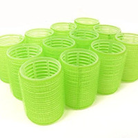 """12pc x Jumbo Size (1-3/4"""" Diameter) Self Grip Velcro Hair Rollers Pro Salon Hairdressing Curlers Color"""