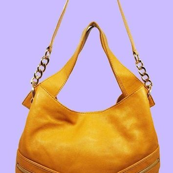 MICHAEL Michael Kors JAMESPORT Sun Leather Hobo Shoulder Bag Msrp