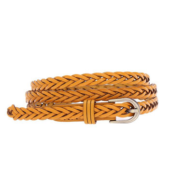 Yellow Braided Belt