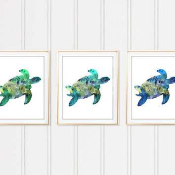 Watercolor Turtle, Sea Turtle Painting, Sea Turtle Print, Sea Turtle Art, Sea Life Art, Nautical Art Prints, Coastal Decor, Home Decor