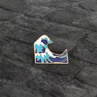 1 Piece Enamel Alloy Kids Gift Waves Brooch Badge Pin Fashion Jewelry