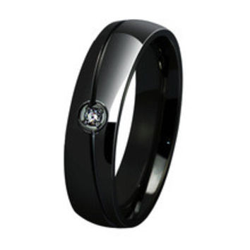 europe western dark black stainless steel his and hers wedding bands cz diamonds engagement promise rings trauringe anel