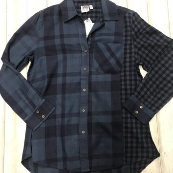 Plaid Tunic - Blue FINAL SALE. NO RETURNS. NO EXCHANGES.