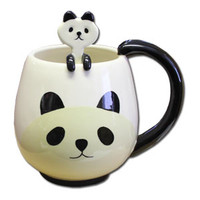 Panda Mug With Mixing Spoon