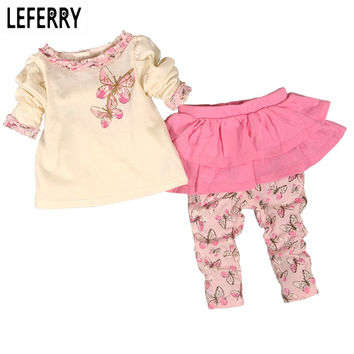 Baby Girls Clothing Set Cotton Divided Skirts Newborn Infant Clothing Girls Suit Baby Girl Clothes Set Fashion 2016 New Autumn