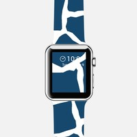 Mosaic Zoom Navy Watch Apple Watch case by Project M | Casetify