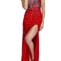Sunvary 2015 Luxurious Mermaid Evening Prom Dress Rhinestone Evening Party Pageant Gowns for Special Occasion US Size 8- Red