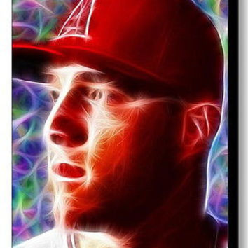 Framed Angels Mike Trout Magical 9X11 Art Print Limited Edition w/signed COA