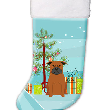 Merry Christmas Tree Chinese Chongqing Dog Christmas Stocking BB4236CS