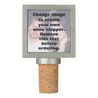 Personalized photo wine stopper. Make your own! Wine Stopper