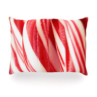 """Beth Engel """"The Painted Forest"""" Candy Cane Oblong Pillow"""