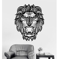 Vinyl Wall Decal Lion Head Animal Tribal Art Decor Stickers Mural Unique Gift (ig3459)