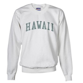 Vintage Hawaii in Green Sweatshirt by tshirt_tshirts