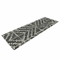 "DLKG Design ""Tribal Drawings"" Chevron Black Yoga Mat"