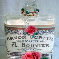 #7 Rose Collage Perfume Bottle Nightlight ( Night Light )