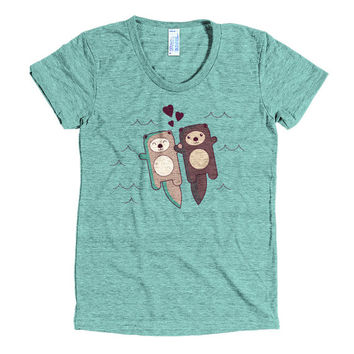 Significant Otter T-Shirt - cute otter t-shirt, shirt men shirt women, love cute otter tee, gift for her, animal lover gift, tri-blend tee