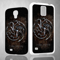Game of throne targaryen silver wyvern V0428 Samsung Galaxy S3 S4 S5 (Mini), Note 2 3 4, HTC One S X M7 M8  Cases