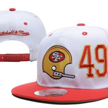 PEAPON San Francisco 49ers Snapback NFL Football Hat M&N