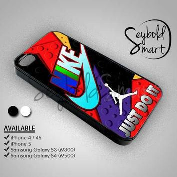 Nike Just Do It Jordan Raptor - iPhone 4/4s/5 Case - Samsung Galaxy S3/S4 Case - Black