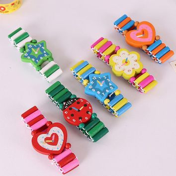 NEW Kids birthday festival supply Fake Wooden Watch baby shower girl boy party favor souvenir pinata fillers Christmas gifts