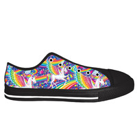 Lisa Frank Skye Black Sole Low Tops
