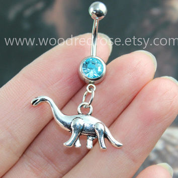 Dragon belly button ring,Silver Dragon Belly Button Rings,Navel Piercing, Dangle Belly Ring , Belly Button Piercing