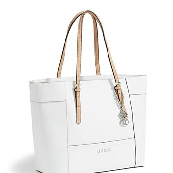 Delaney Textured Logo Medium Classic Tote | GUESS.com