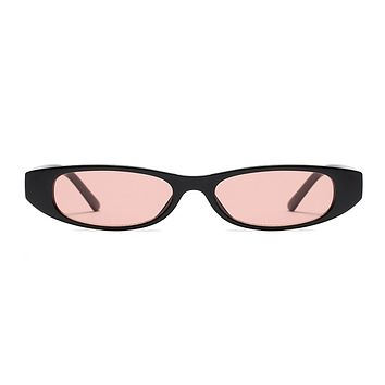 The Small Oval Sunglasses Pink Black