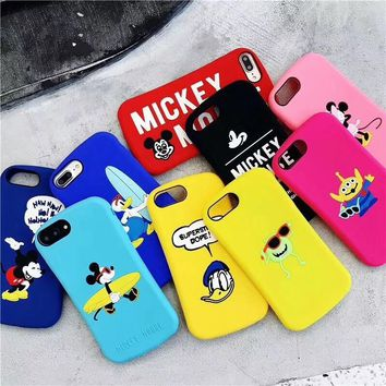 Cartoon Mickey Minnie Mouse Donald Duck Alien Phone Case For iPhone XS Max XR X 7 6 6S 8 Plus Soft Silicone Phone Cases Cover