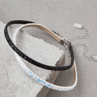 AEO Black & White Sparkle Choker, Black