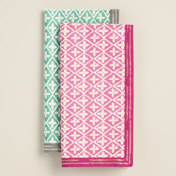 Foil Geometric Sheila Napkins Set of 4