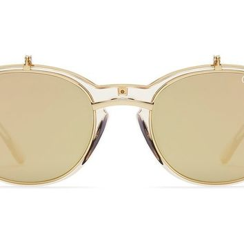 Quay Penny Royal Champagne Sunglasses / Gold Lenses