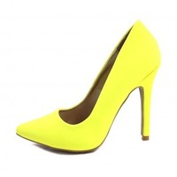 Qupid Potion-01 Women Pointy Toe Stiletto High Heels Dress Pumps wowtrendz