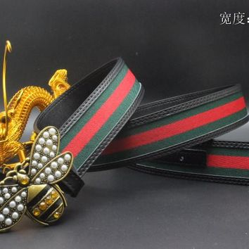 Gucci Belt Men Women Fashion Belts 538089