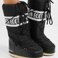 Moon Boot - Shell-piqué and faux leather snow boots
