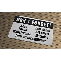 Reminder Door Mat - Don't Forget!