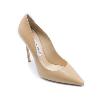 Jimmy Choo Womens Romy 110 Pointed Toe In Nude Pumps