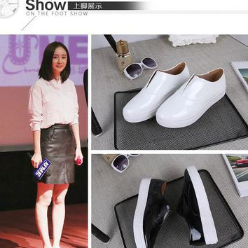 VLX2WL Korean Autumn With Heel Thick Crust Pointed Toe Shoes [9432943050]