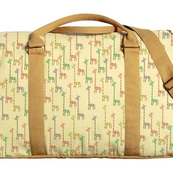 Watercolor Giraffe Printed Oversized Canvas Duffle Luggage Travel Bag WAS_42