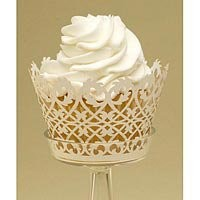 Filigree Cupcake Wrappers   Perfect for weddings - Kitchen Krafts