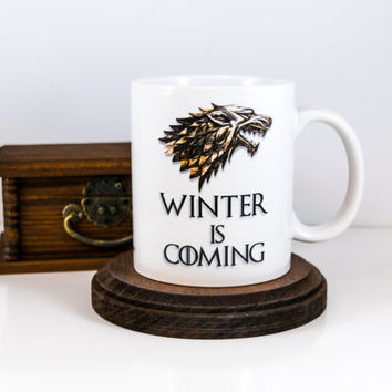 Winter is Coming Mug | Game of Thrones Mug | Coffee Mug | Gift Ideas | Game of Thrones Gift | Gift for Him | Gift for Her | Cuevex Mugs